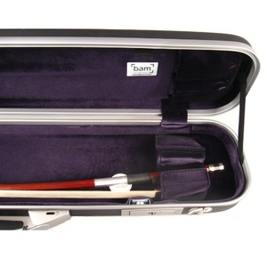 With Shoulder Strap Vio Music Bass Bow Case for One French or One German Bass Bow